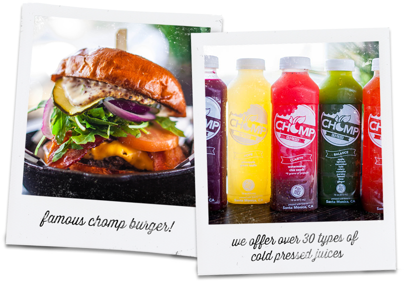 Famous Chomp Burger and Juices